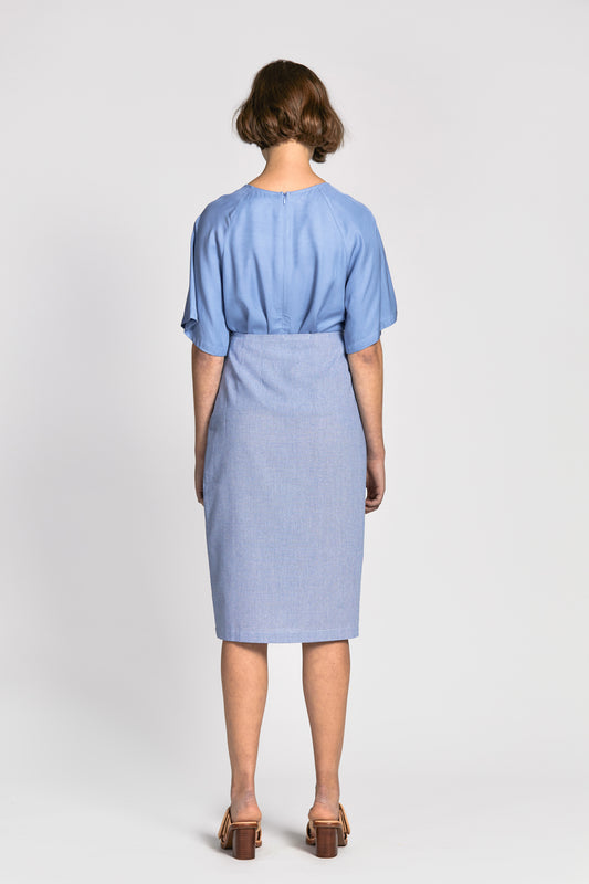 tai skirt light blue