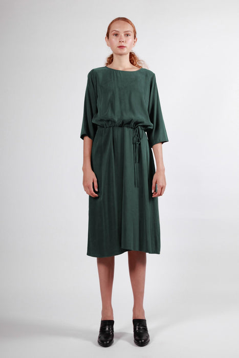 tasman dress dark green