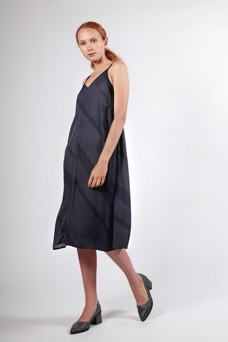 tasman dress navy stripe