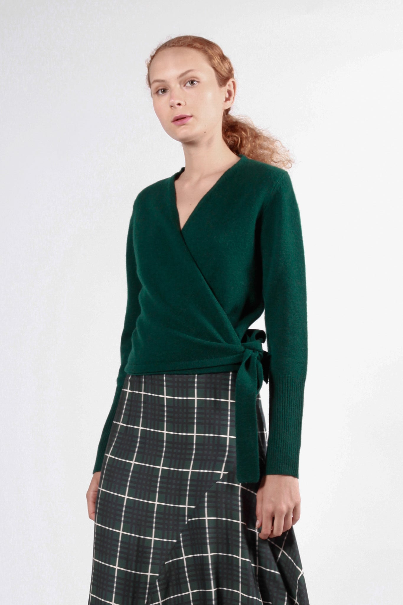 templo cardigan dark green