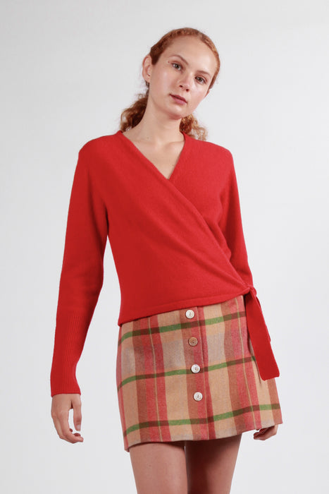 templo cardigan red