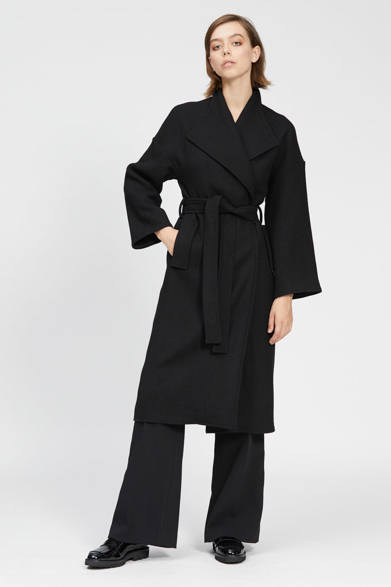 tesoro coat black