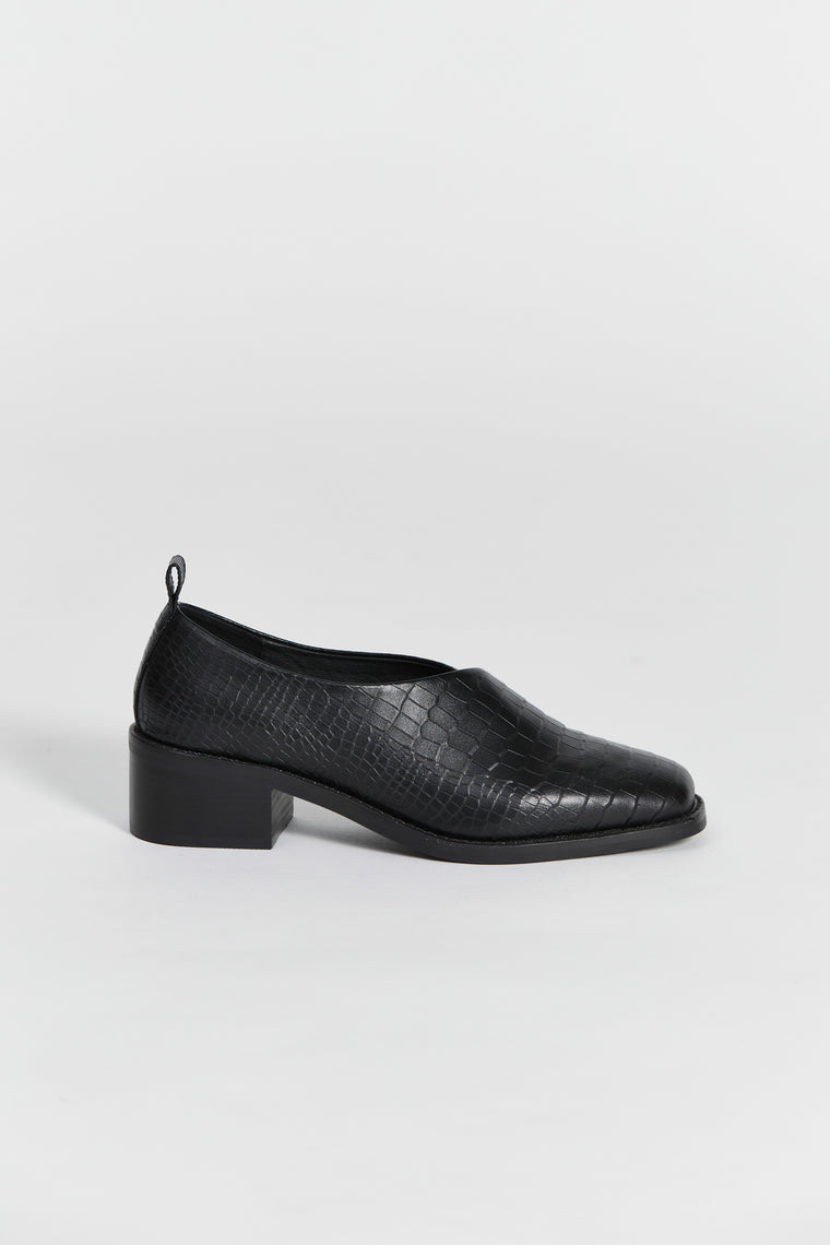 tofana shoe black croc