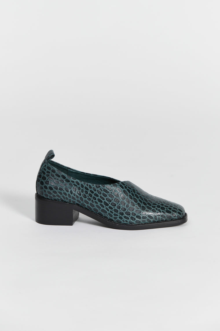 tofana shoe green croc