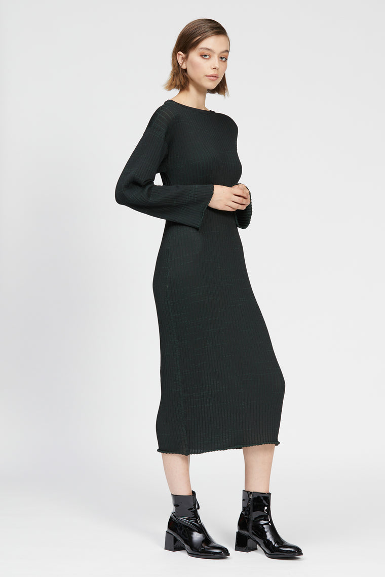 veneto dress black/dark green