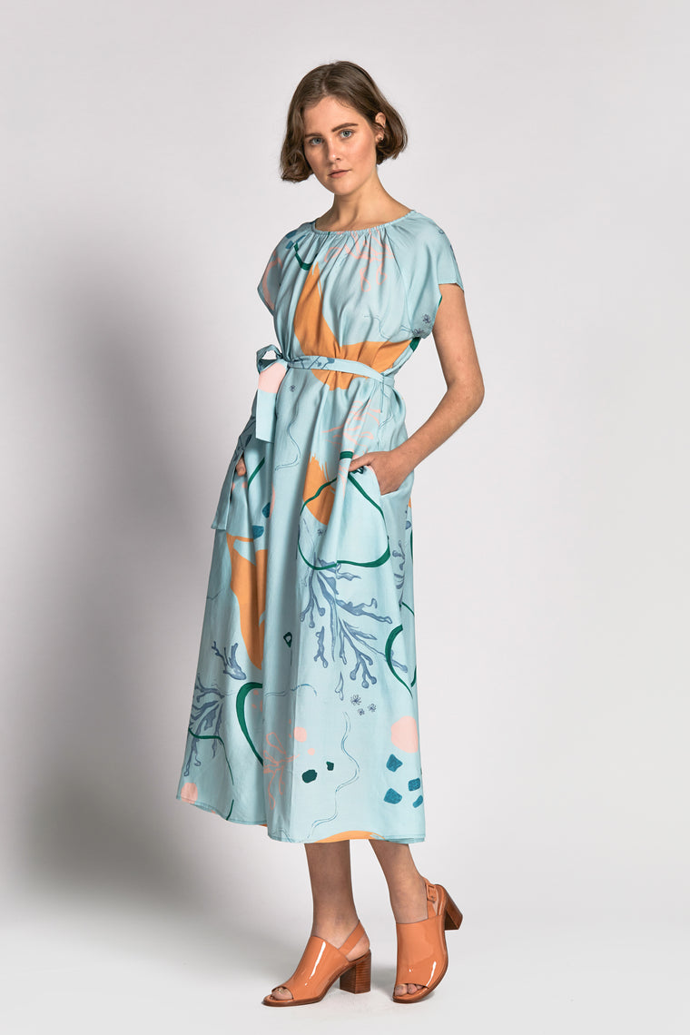 vinh dress watercolour print