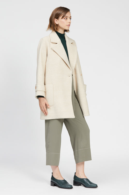 volpe coat beige check