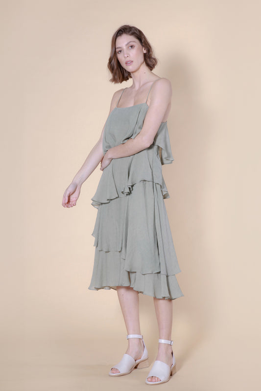 weta dress light green