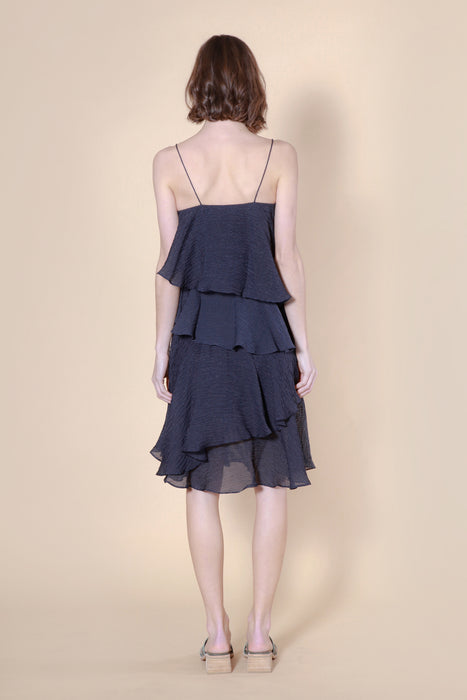 weta dress navy stripe