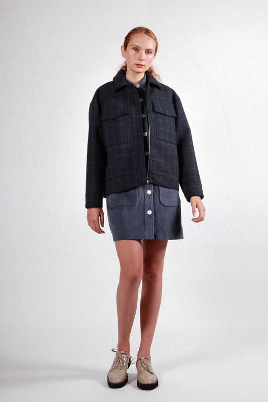 wrest jacket navy check