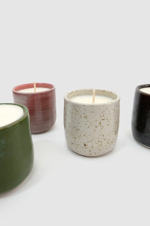 green speckle candle