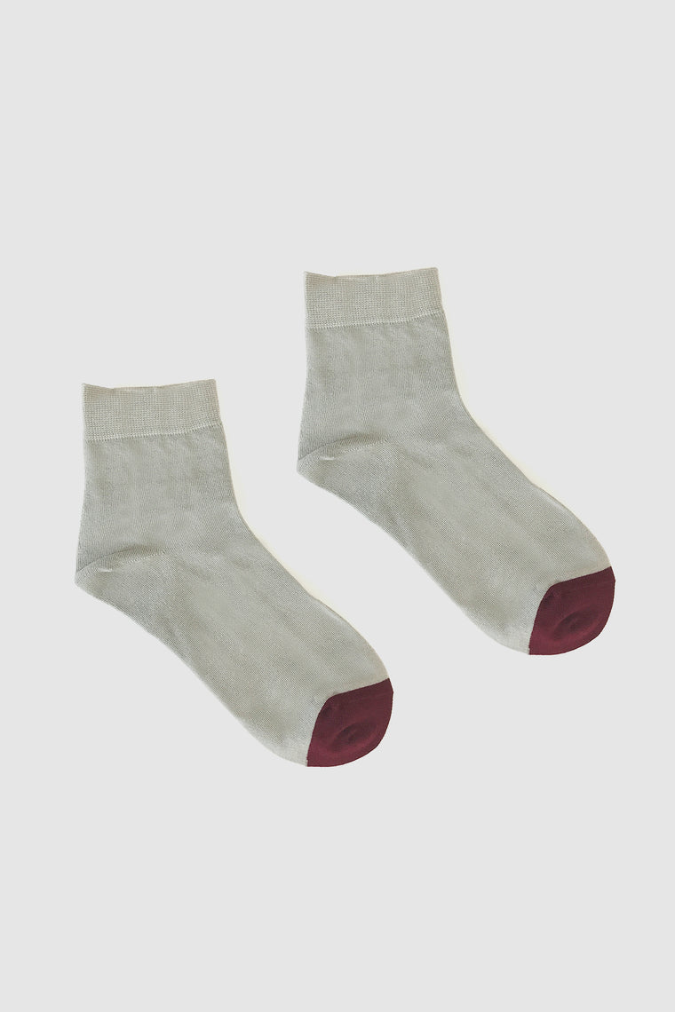 Kalt Sock Grey/Plum