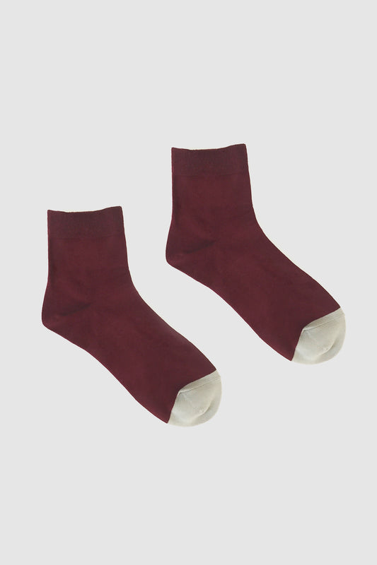 Kalt Sock Plum/Grey