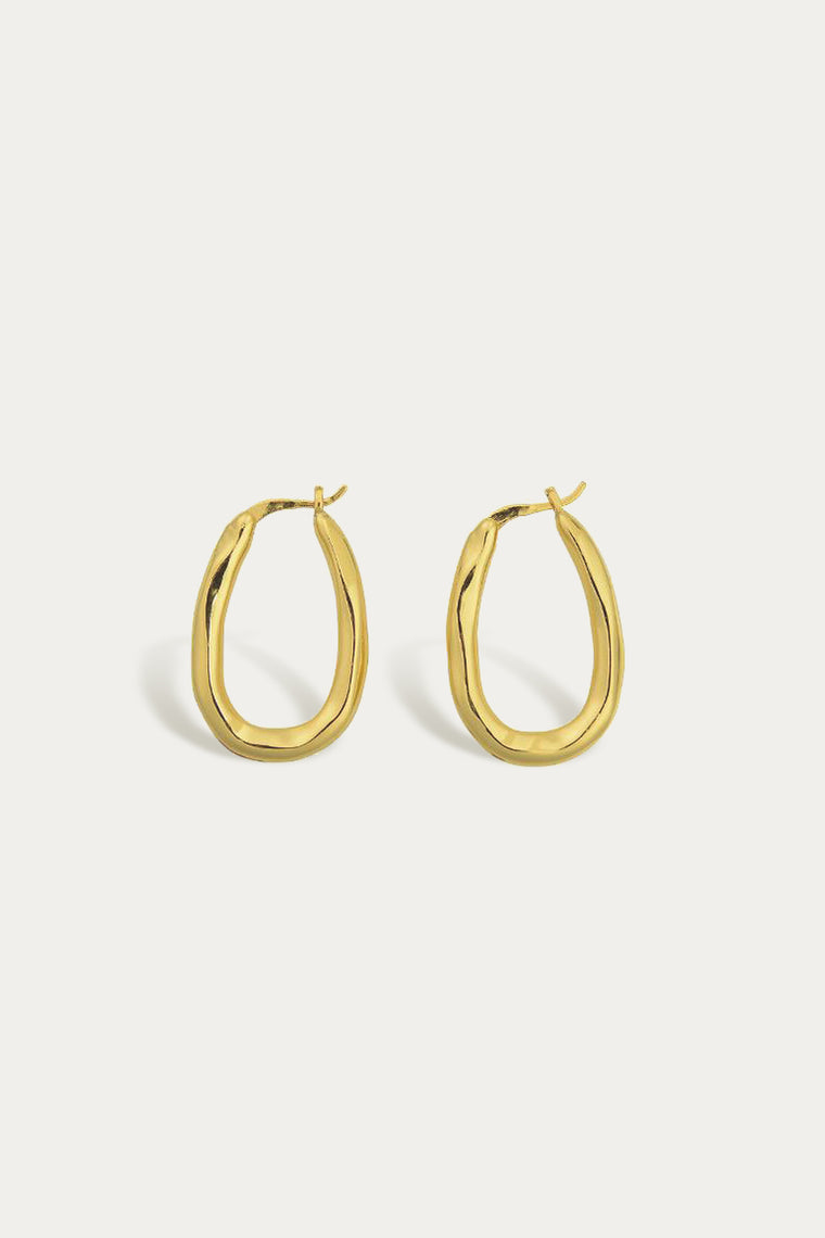 organica bent hoops gold