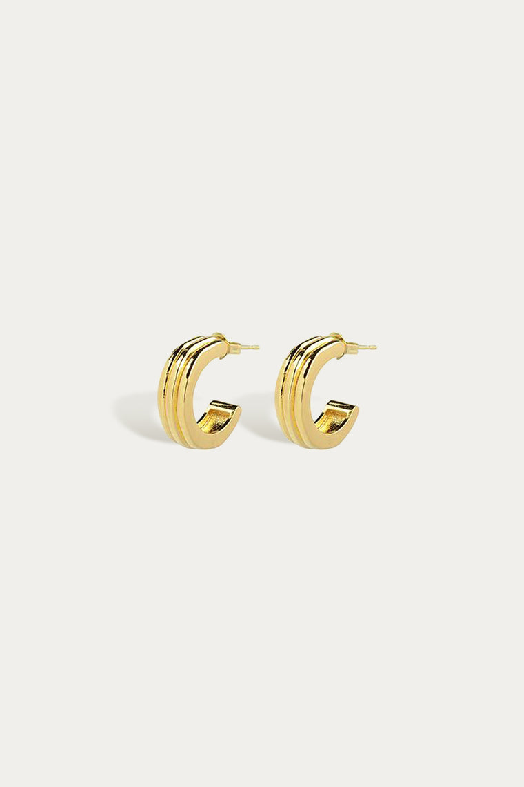 large ranura earrings gold