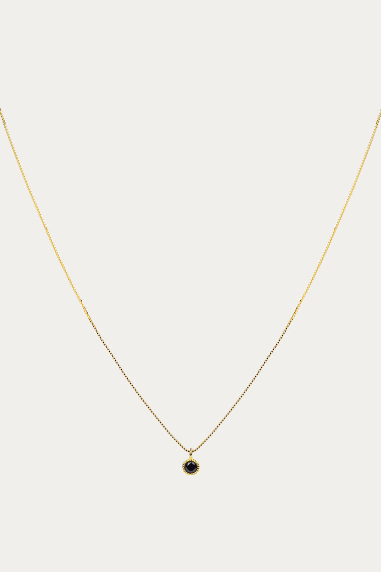 REDONDO DROP NECKLACE GOLD/BLACK