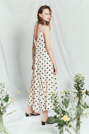 leongatha dress cream/black spot