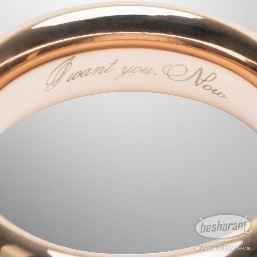 Fifty Shades Freed I Want You. Now. Steel Love Ring main image 5