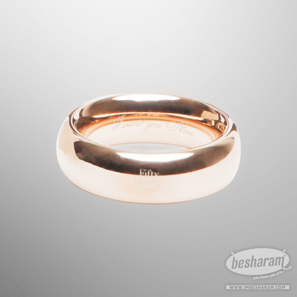 Fifty Shades Freed I Want You. Now. Steel Love Ring main image 4