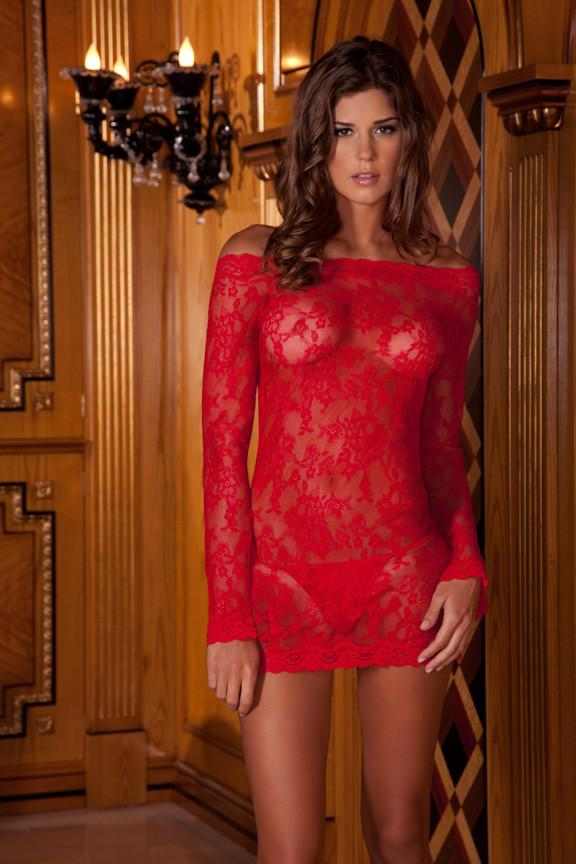 Rene Rofe Long Sleeve Chemise Dress Set main image 3