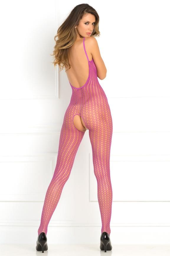 Rene Rofe Quarter Crochet Net Bodystocking main image 4