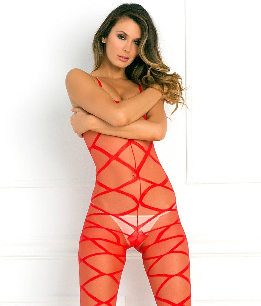 Rene Rofe Strapped Up Sheer Bodystocking main image 3
