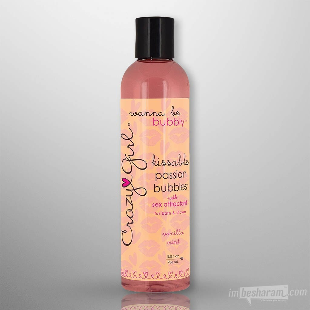 Crazy Girl Kissable Passion Bubbles 8oz.