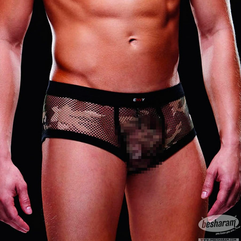 Baci Envy Fishnet Sport Trunk