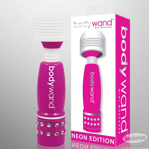 Bodywand Mini Massager w Rhinestones (Neon Edition)