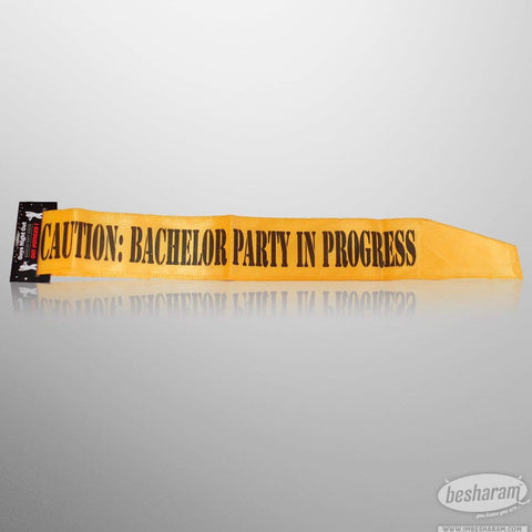 Caution: Bachelor Party in Progress Sash