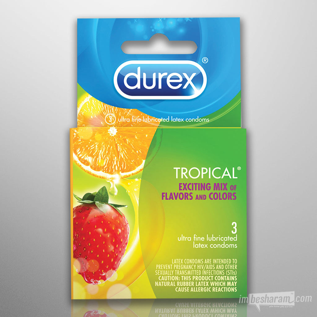 Durex Tropical Flavored Condoms