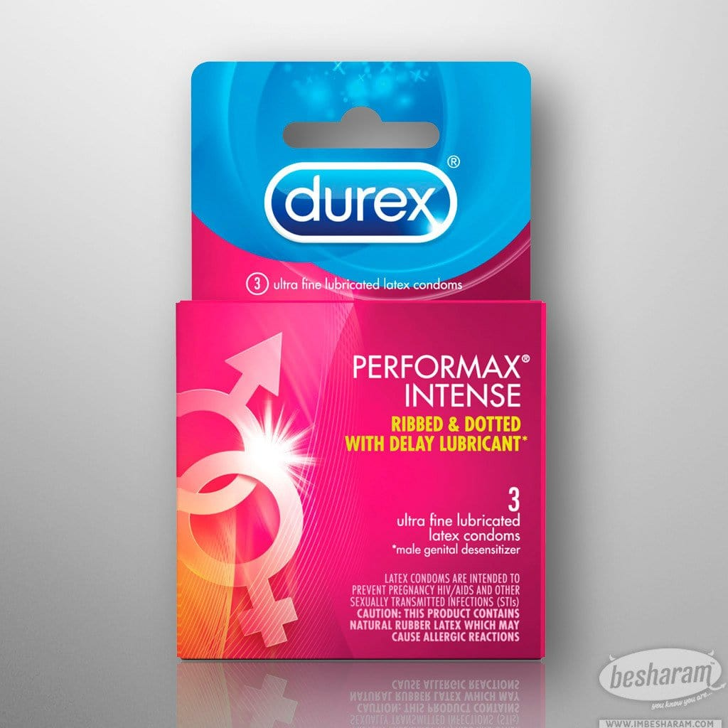 Durex Performax Intense Condoms - 3 Count Box