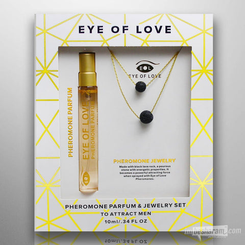 Eye of Love Pheromone Parfume & Gold Jewelry - Set