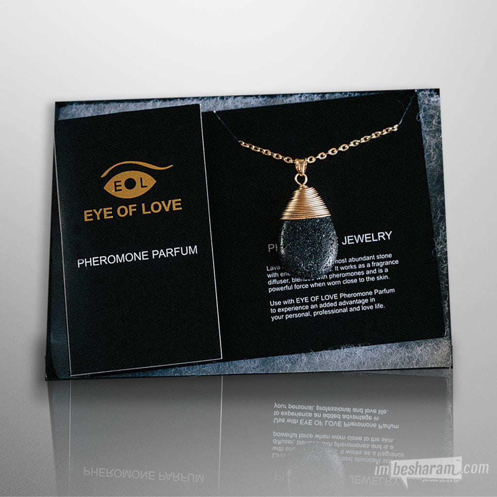 Eye of Love Pheromone Drop Gold Necklace
