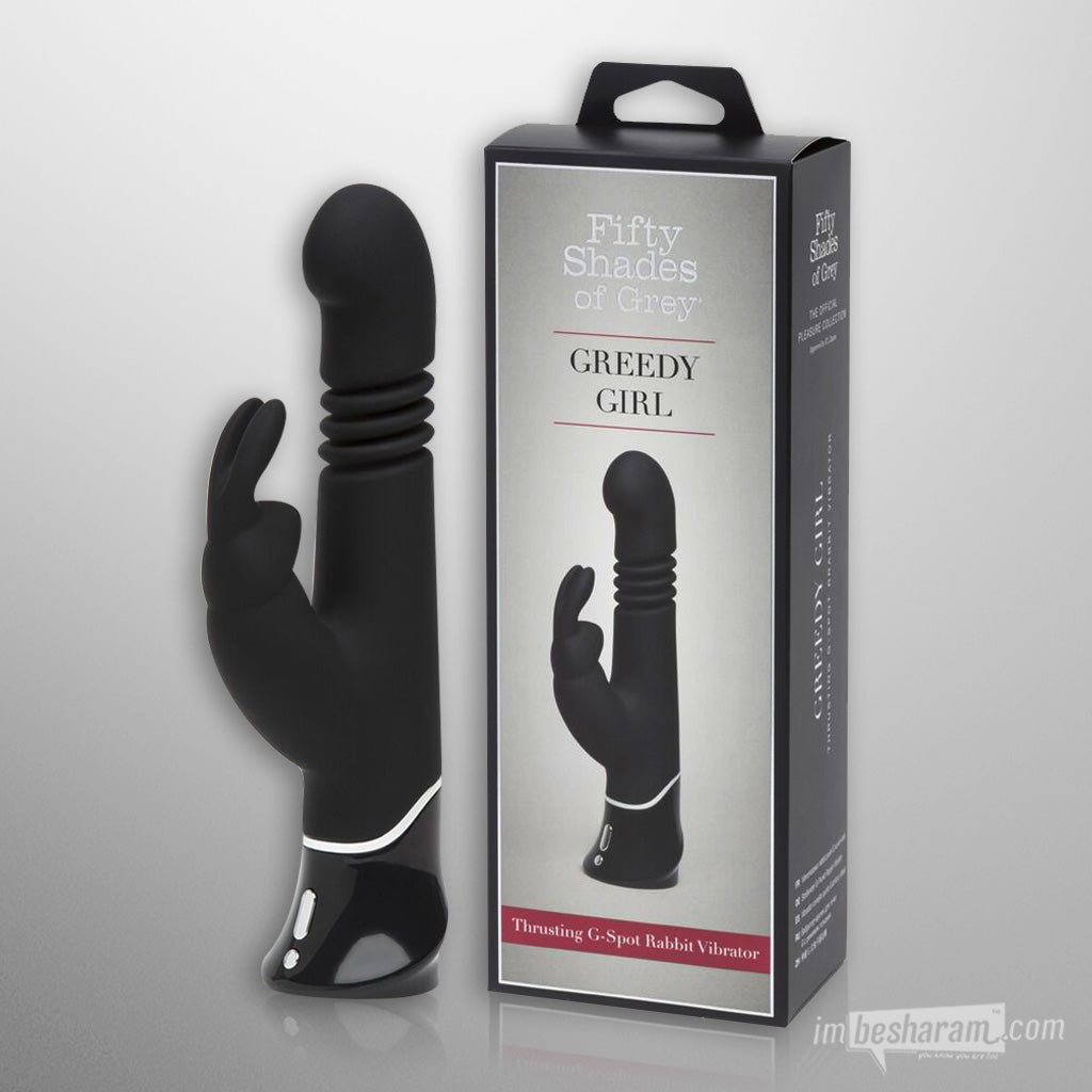 Fifty Shades Of Grey Greedy Girl Thrusting Rabbit Vibrator