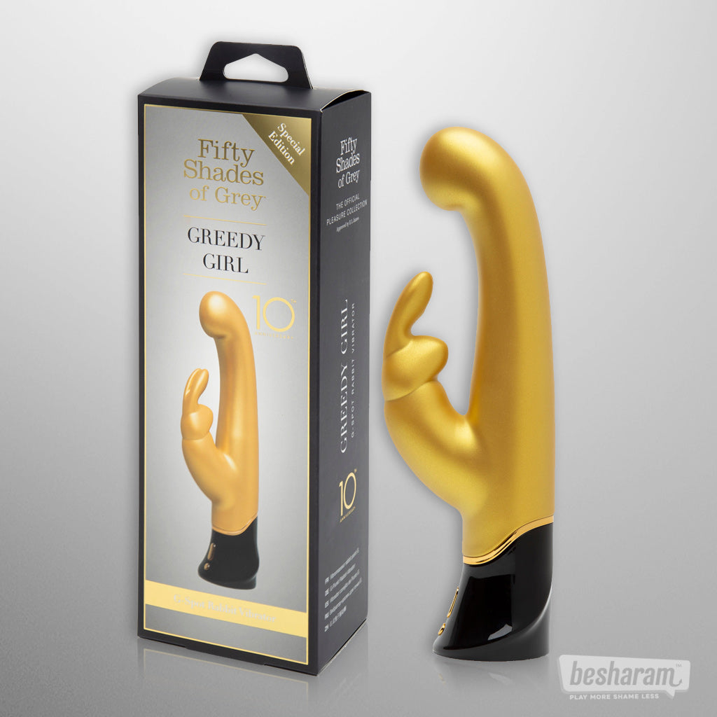 Fifty Shades of Grey Rechargeable G-Spot  Rabbit Vibrator (10 Year Anniversary Limited Edition)