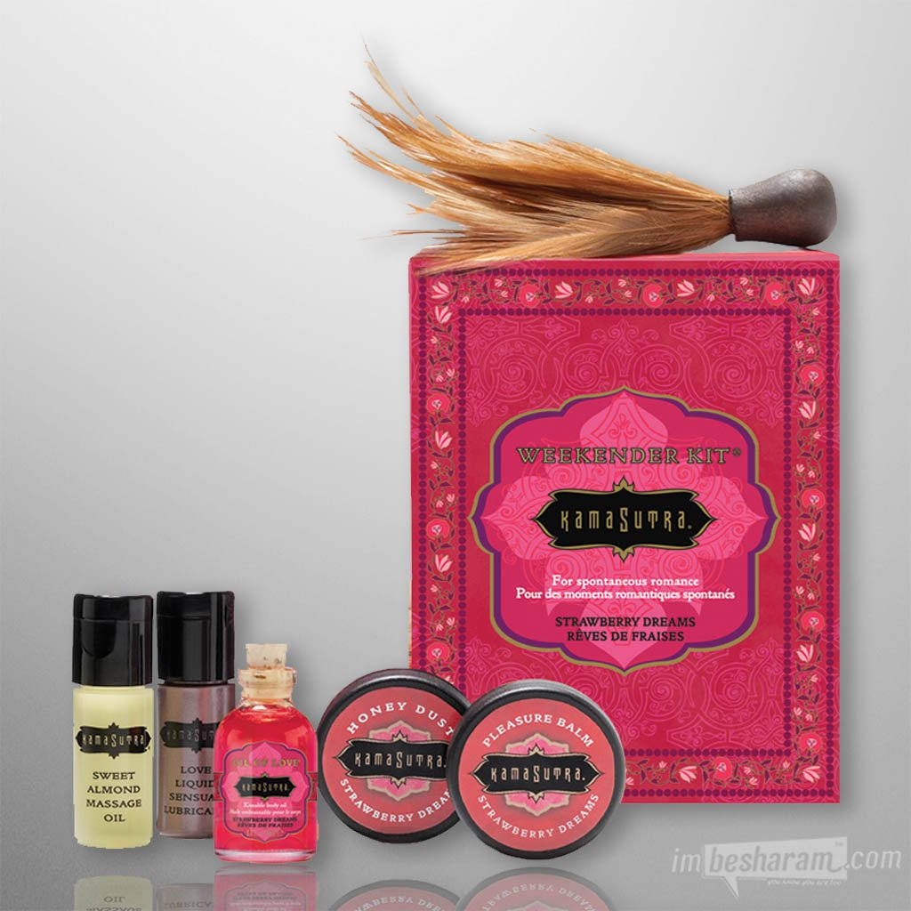 Kama Sutra The Weekender Kit-Strawberry Dreams