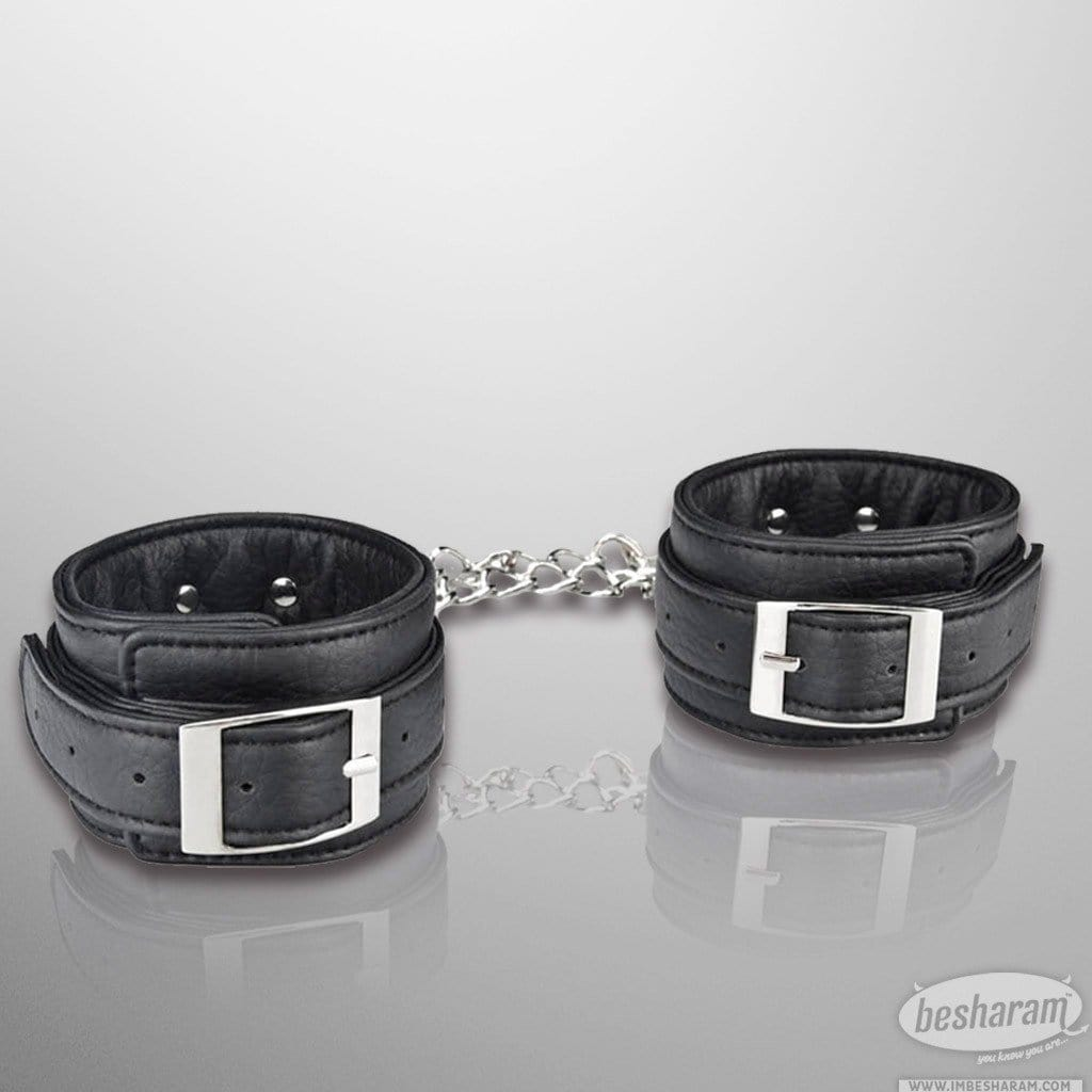 Lux Fetish Unisex Leatherette Cuffs main image 2