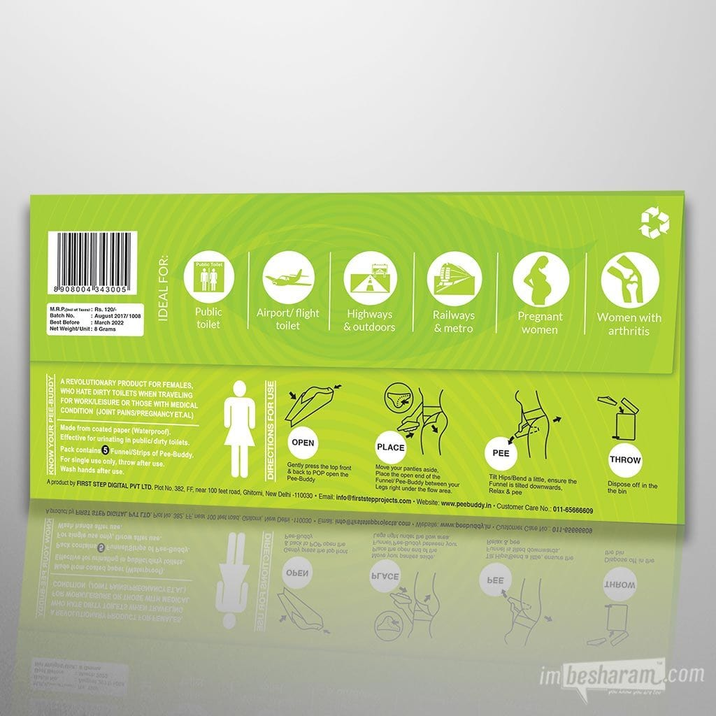 PeeBuddy - Disposable Female Urination Sleeves main image 4