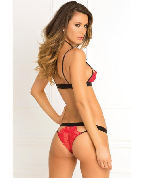 Rene Rofe Hot Harness Bra & Panty Red main image 2