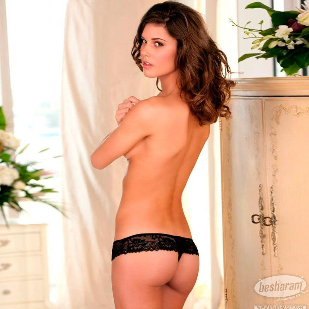 Rene Rofe Black Crotchless Lace Boy Short main image 2