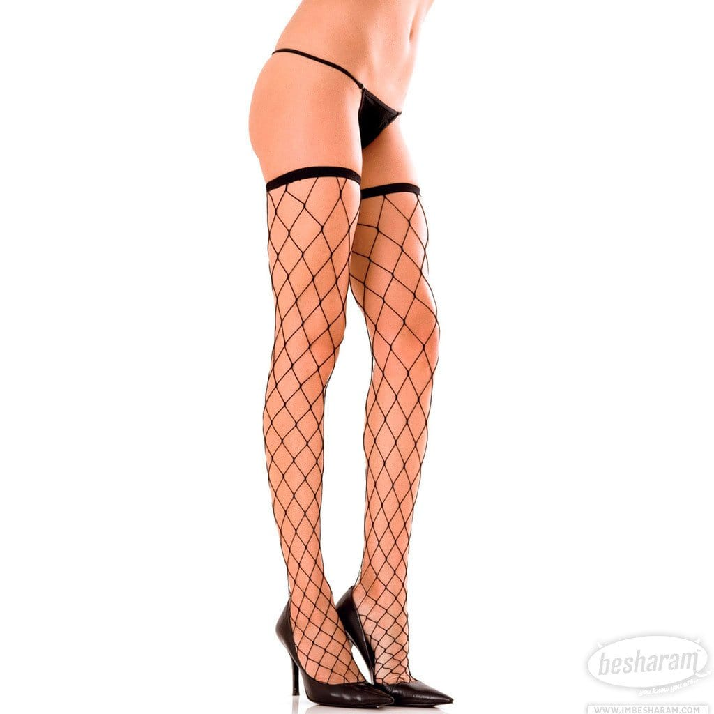 Rene Rofe Fence Net Thigh Highs