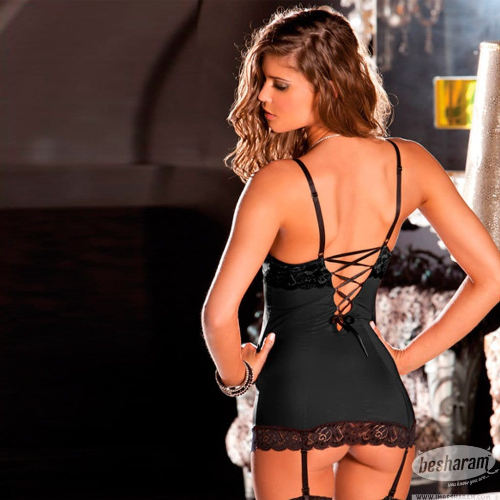Rene Rofe Hollywood Chemise & G-String Set main image 4