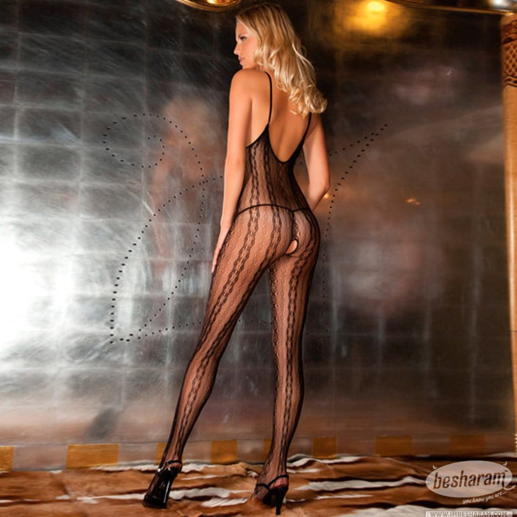 Rene Rofe Seductive Lace Bodystocking main image 2
