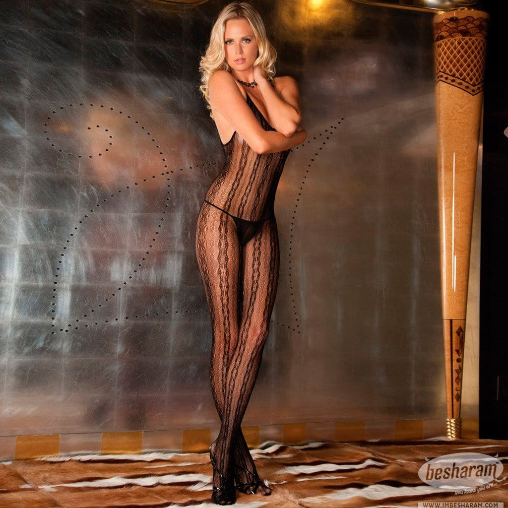 Rene Rofe Seductive Lace Bodystocking