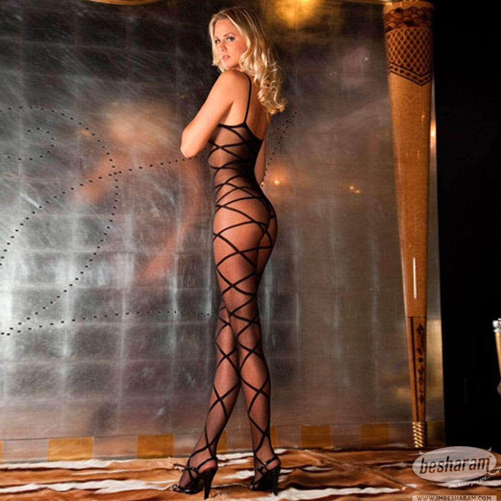 Rene Rofe Strapped Up Sheer Bodystocking main image 2