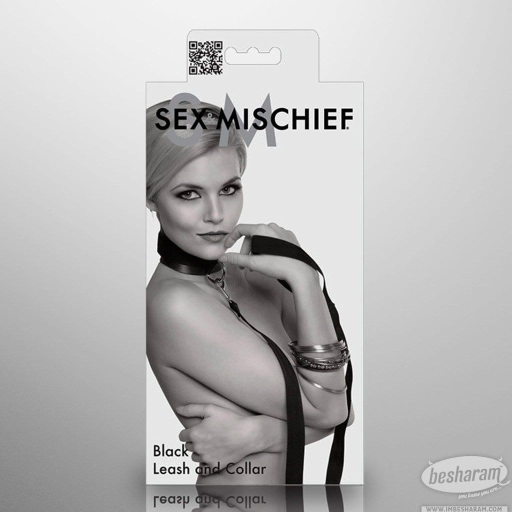 Sex & Mischief Leash & Collar - Black main image 1