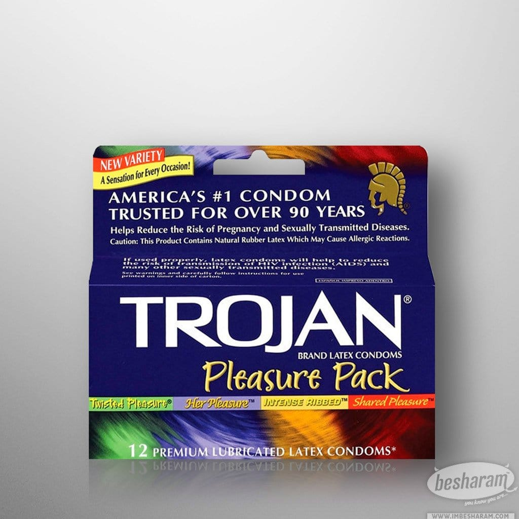 Trojan Pleasure Condoms - 12 Count Assortment
