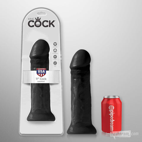 King Cock 11 inches Cock Black