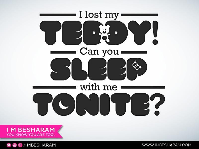 I Lost My Teddy! Can You Sleep With Me Tonite?